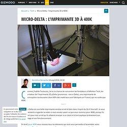 Micro-Delta : l'imprimante 3D à 400€