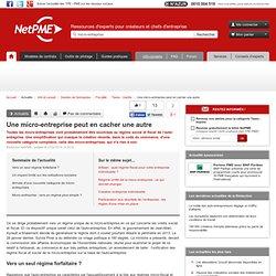 Une micro-entreprise peut en cacher une autre NetPME