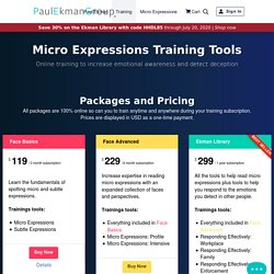 Micro Expressions Training Tools - Paul Ekman Group, LLC