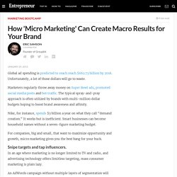 How 'Micro Marketing' Can Create Macro Results for Your Brand