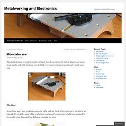 Metalworking and Electronics