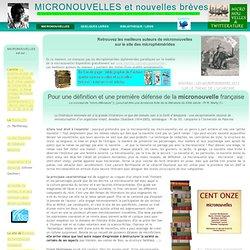 MICRO-NOUVELLES > MICRONOUVELLES