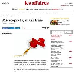 Micro-prêts, maxi frais