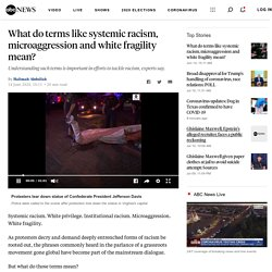 What do terms like systemic racism, microaggression and white fragility mean?