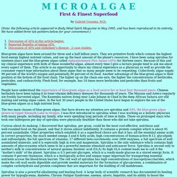 MICROALGAE - FIRST and FINEST SUPERFOOD