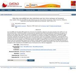 ENVT - 2014 - Thèse en ligne: Rôle des microARN lors des infections par les virus animaux et humains