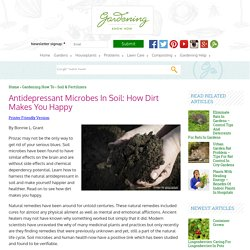 Soil Microbes And Human Health – Learn About The Natural Antidepressant In Soil