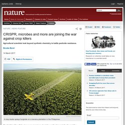 NATURE 14/03/17 CRISPR, microbes and more are joining the war against crop killers Agricultural scientists look beyond synthetic chemistry to battle pesticide resistance.