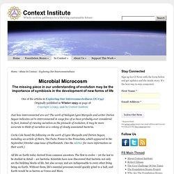 Lynn Margulis and Dorion Sagan - Microbial Microcosm