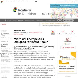 Microbial Therapeutics Designed for Infant Health