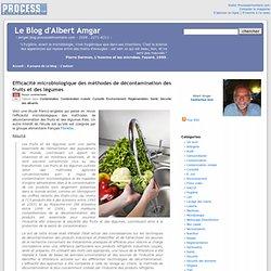 BLOG D ALBERT AMGAR 11/12/13 Efficacité microbiologique des méthodes de décontamination des fruits et des légumes