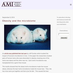 Obesity and the microbiome — The American Microbiome Institute