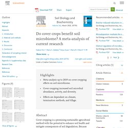 Do cover crops benefit soil microbiome? A meta-analysis of current research