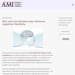 Diet and microbiome may influence cognitive flexibility — The American Microbiome Institute