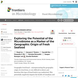 FRONT. MICROBIOL. 17/04/20 Exploring the Potential of the Microbiome as a Marker of the Geographic Origin of Fresh Seafood