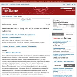 The microbiome in early life: implications for health outcomes : Nature Medicine