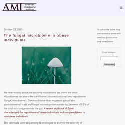 The fungal microbiome in obese individuals — The American Microbiome Institute