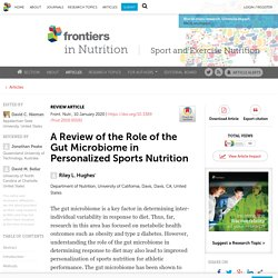 A Review of the Role of the Gut Microbiome in Personalized Sports Nutrition