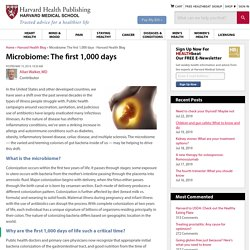 Microbiome: The first 1,000 days