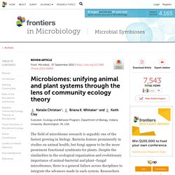 Microbiomes: unifying animal and plant systems through the lens of community ecology theory