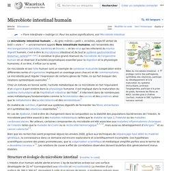 Microbiote intestinal humain - Wikipédia