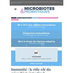 Immunité : le rôle-clé du microbiote intestinal - probiotiques-sante.fr