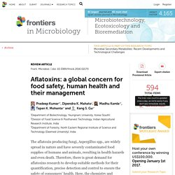 FRONTIERS IN MICROBIOLOGY 23/12/16 Aflatoxins: a global concern for food safety, human health and their management