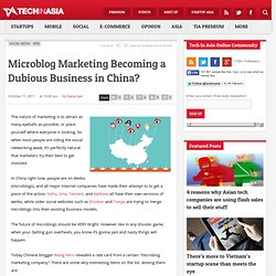 Microblog Marketing Becoming a Dubious Business in China?