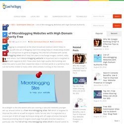 List of Microblogging Websites with High Domain Authority Free