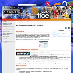 Microblogging / twitter