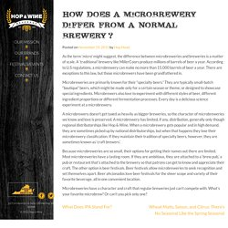 How Does a Microbrewery Differ From a Normal Brewery? - Hop & Wine