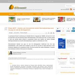 Actu Envirronement - MICST : microcentrale solaire thermodynamique