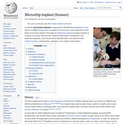 Microchip implant (human) - Wikipedia