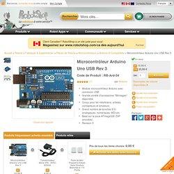 Microcontrôleur Arduino Uno USB Rev 3
