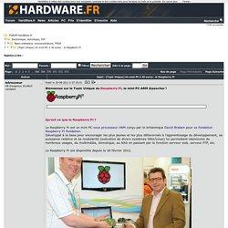 Un mini-PC à 30 euros : le Raspberry Pi [Topic Unique] - Nano-ordinateur, microcontrôleurs, FPGA - Electronique, domotique, DIY