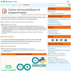 Cartes microcontrôleurs et programmation (Acad. Poitiers)
