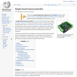 Single-board microcontroller
