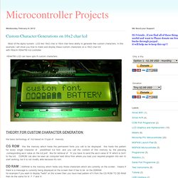Microcontroller Projects: Custom Character Generations on 16x2 char lcd