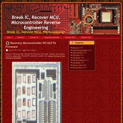 Recover MCU Firmware