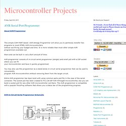 Microcontroller Projects: AVR Serial Port Programmer