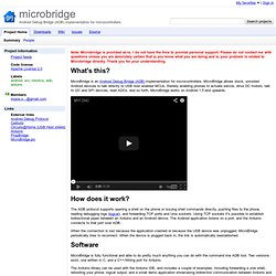 microbridge - Android Debug Bridge (ADB) implementation for microcontrollers.