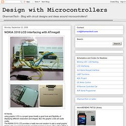 Design with Microcontrollers: NOKIA 3310 LCD interfacing with ATmega8