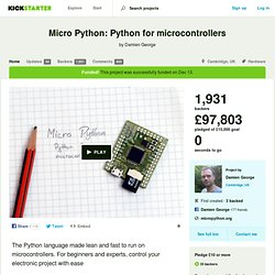 Micro Python: Python for microcontrollers by Damien George