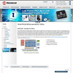 16-bit PIC® Microcontrollers - dsPIC30F