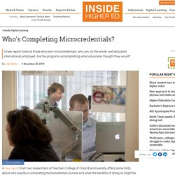 New report offers analysis of microcredential completers