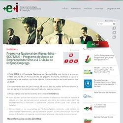 Programa Nacional de Microcrédito - SOU MAIS - Programa de Apoio ao Empreendedorismo e à Criação do Próprio Emprego