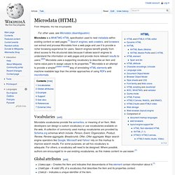 Microdata (HTML5)