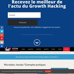 Microdata : kesako ? Exemples pratiques > Growth Hacking France