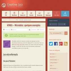 HTML5 – Microdata : quelques exemples - Référencement