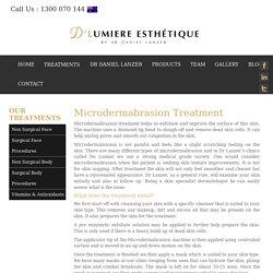 Microdermabrasion Treatment Sydney - D'Lumiere Esthetique Clinic